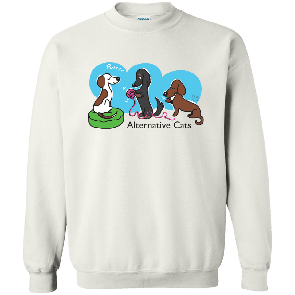 Alternative Cats Crewneck Pullover Sweatshirt