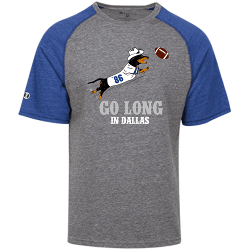 Go Long in Dallas Tri-blend Heathered Shirt