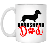 Dachshund Dad Shorthair (Red) 11 oz. Ceramic Mug
