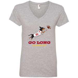 Go Long in Kansas City Ladies' V-Neck T-Shirt