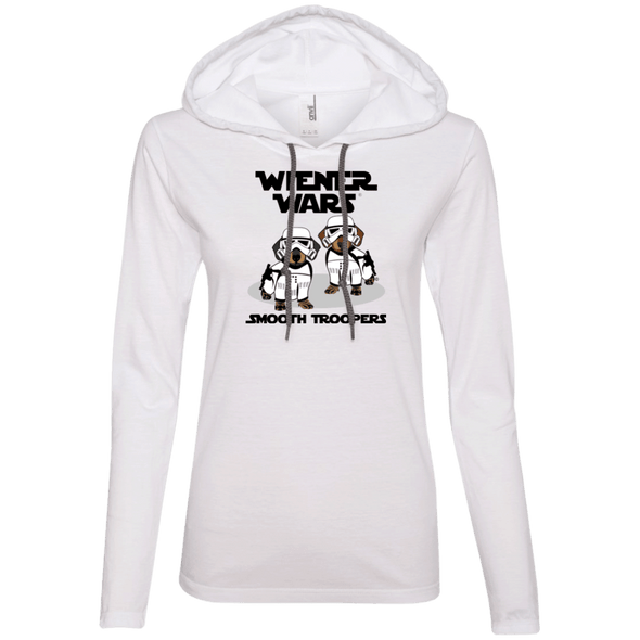 Wiener Wars Smooth Troopers Ladies' LS T-Shirt Hoody