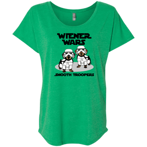 Wiener Wars Smooth Troopers Ladies' Triblend Dolman Sleeve