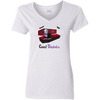 Count Dachula Ladies' V-Neck T-Shirt