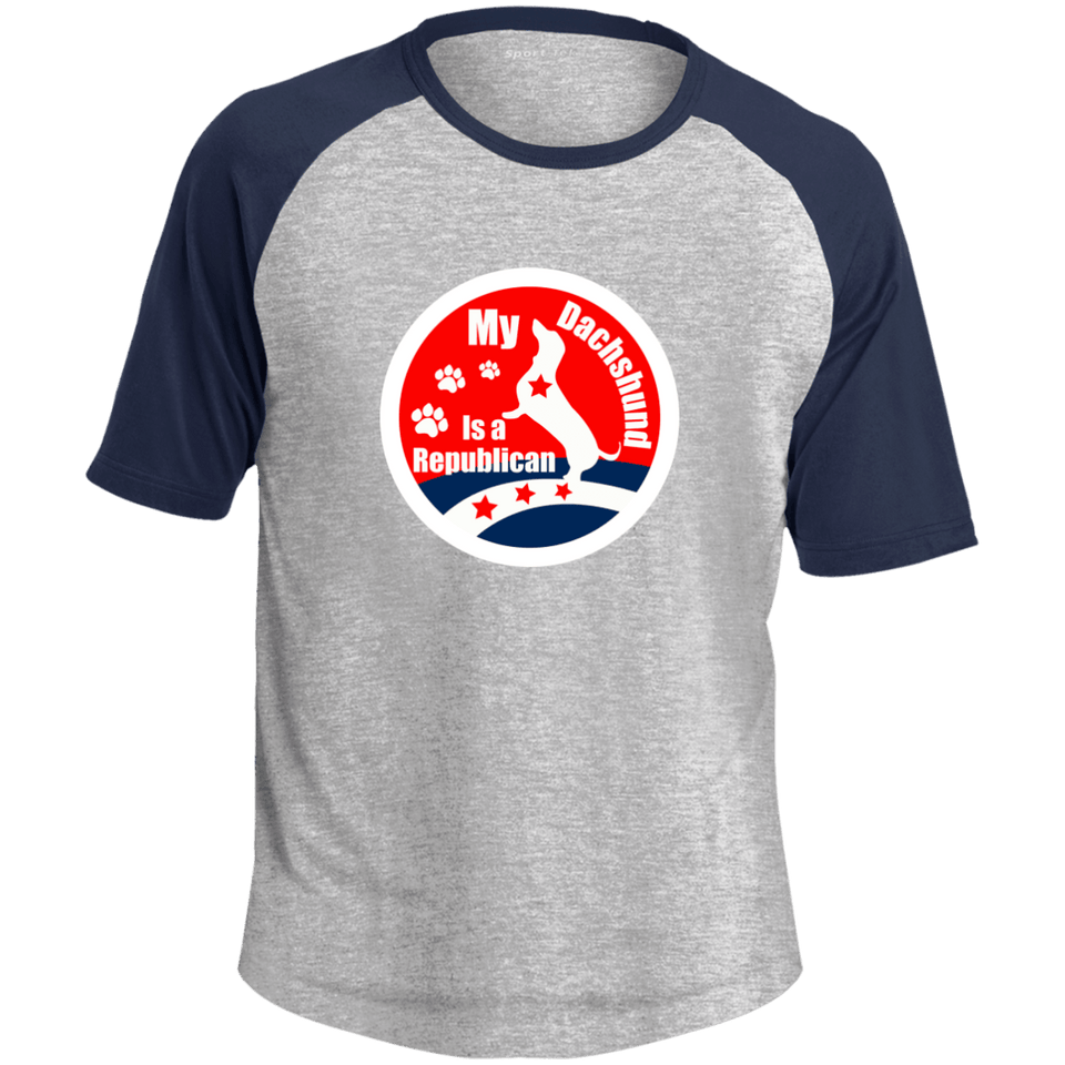 My Dachshund Is A Republican Colorblock Raglan Jersey