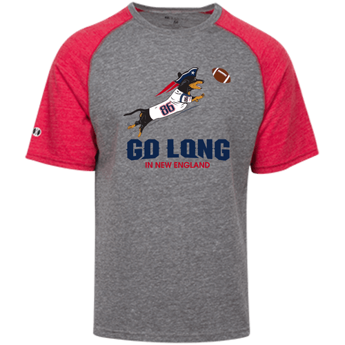 Go Long in New England Unisex Tri-blend Heathered Shirt