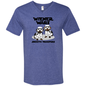 Wiener Wars Smooth Troopers Men's V-Neck T-Shirt