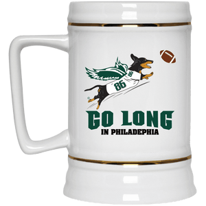 Go Long in Philadelphia Beer Stein 22oz.