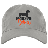 Dachshund Dad Wirehair (Red) Embroidered Brushed Twill Unstructured Cap