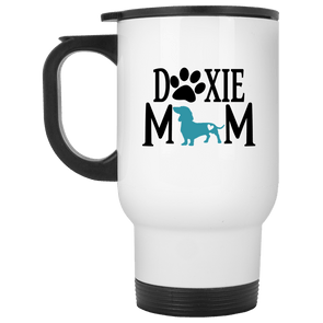 Doxie Mom (Teal) 14 oz. Stainless Steel Travel Mug