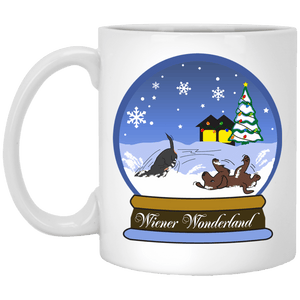 Snow Globe Christmas 11 oz. Ceramic Mug