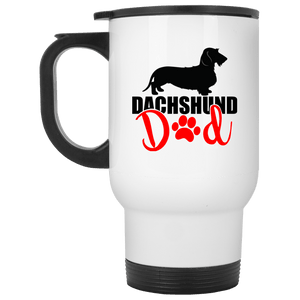 Dachshund Dad Wirehair (Red) 14 oz. Stainless Steel Travel Mug