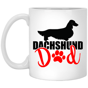 Dachshund Dad Longhair (Red) 11 oz. Ceramic Mug