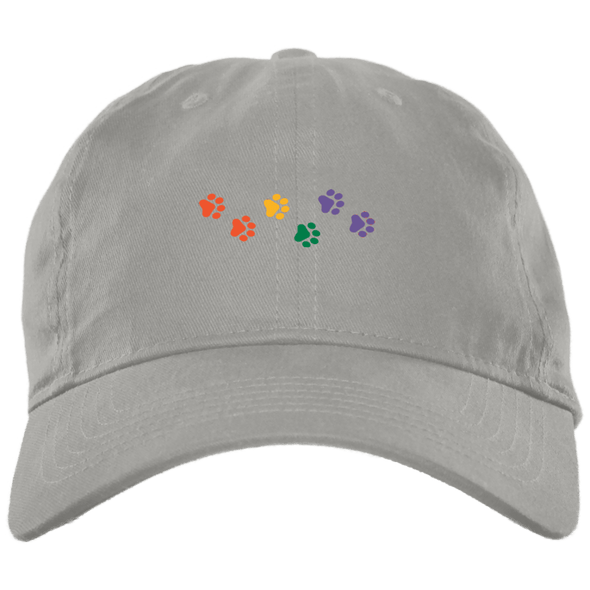 Rainbow Paws Embroidered Brushed Twill Unstructured Cap