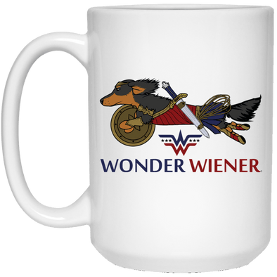Wonder Wiener 15 oz. White Ceramic Mug