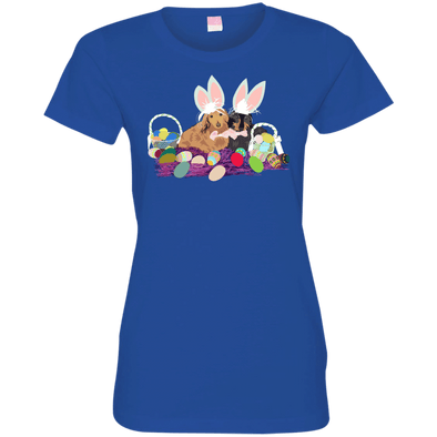 Easter Dachshunds Ladies' Fine Jersey T-Shirt