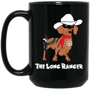 The Long Ranger Black 15 oz. Mug
