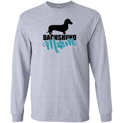 Dachshund Mom Shorthair (Teal) LS Ultra Cotton T-Shirt