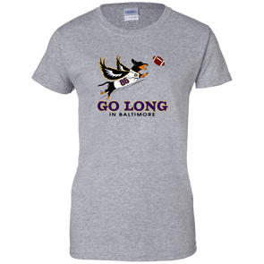 Go Long in Baltimore Ladies' T-Shirt