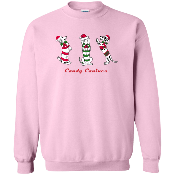 Candy Canines 50/50 Crewneck Pullover Sweatshirt