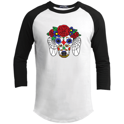 Sugar Skull Doxie Baseball T-Shirt