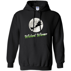 Flying Wicked Wiener (Lime lettering) Pullover Hoody