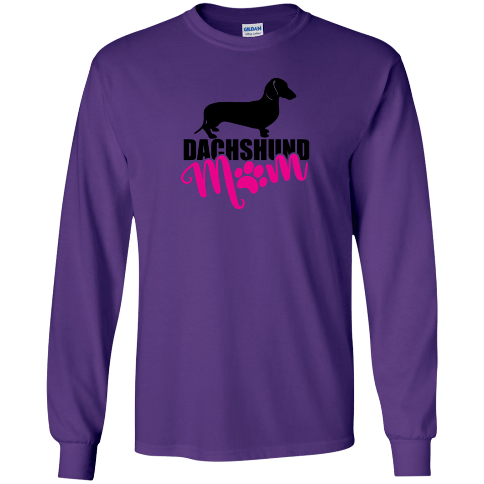 Dachshund Mom Shorthair (Pink) Unisex LS Ultra Cotton T-Shirt