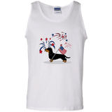 Patriotic Wirehair B&T 100% Cotton Tank Top