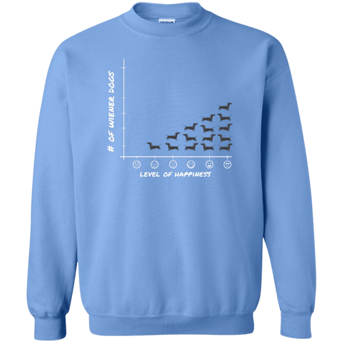 Wiener Happiness (black) Printed Crewneck Pullover Sweatshirt