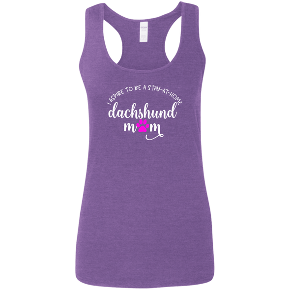 Stay Home Dachshund Mom Ladies' Softstyle Racerback Tank