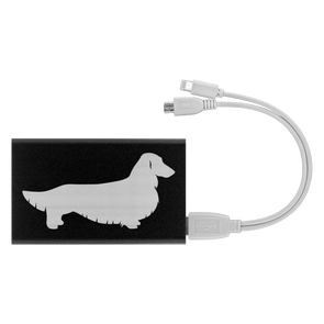 Longhair Dachshund Power Bank