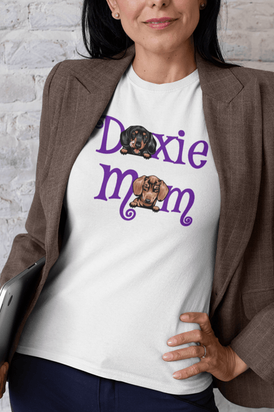 Doxie Mom (2 Dogs) Ladies'  T-Shirt
