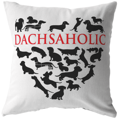 Dachsaholic Throw Pillow
