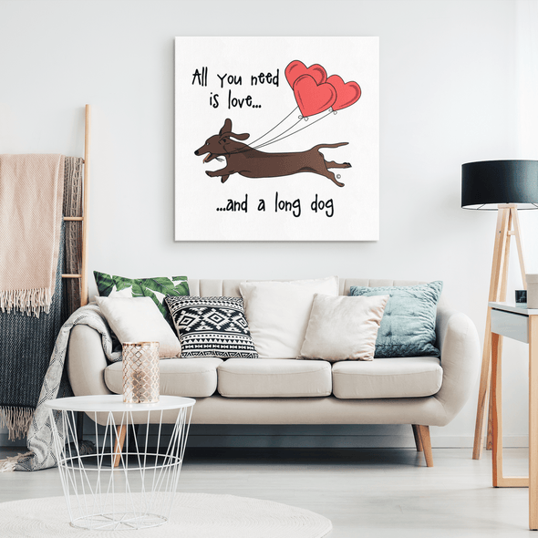 All You Need Is Love SH (Red) Canvas