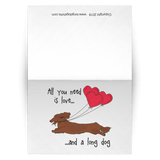 All You Need Is Love LH (Red) Greeting Cards