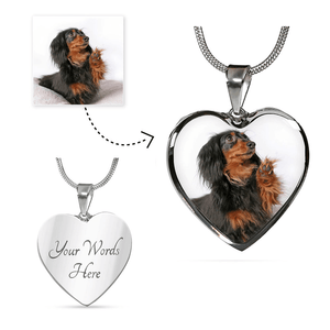 Personalized Photo Heart Pendant or Bangle Bracelet (with optional engraving)