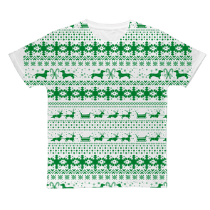 Xmas Sleigh pattern for Gooten Classic Sublimation Adult T-Shirt