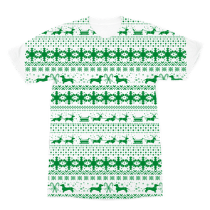 Xmas Sleigh pattern for Gooten Premium Sublimation Adult T-Shirt