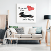 All You Need Is Love LH (B&T) Canvas Print