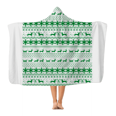 Xmas Sleigh pattern for Gooten Classic Adult Hooded Blanket