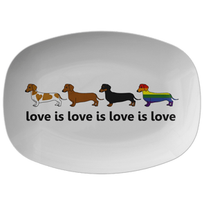 Love Is Love Serving Platter