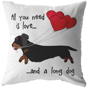All You Need Is Love WH (B&T) Throw Pillow