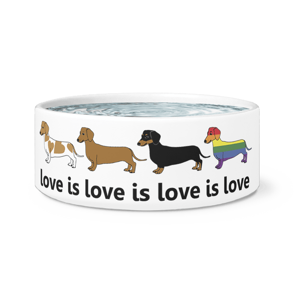 Love Is Love Ceramic Dog Bowl