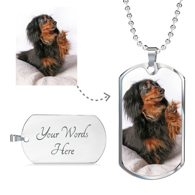 Personalized Photo Dog Tag Necklace (with optional engraving)
