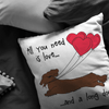 All You Need Is Love LH (Red) Throw Pillow