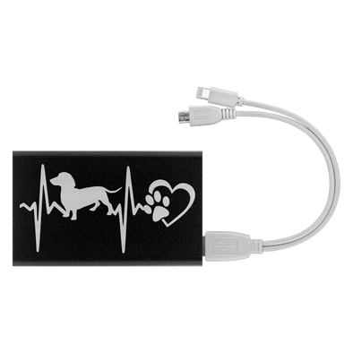 Dachshund Heartbeat Power Bank