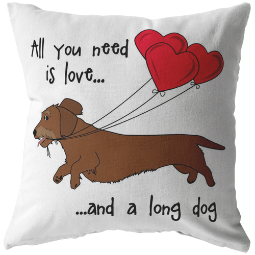 All You Need Is Love WH (Red) Throw Pillow