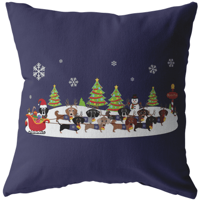 Santa's Reindachs Decorative Pillow