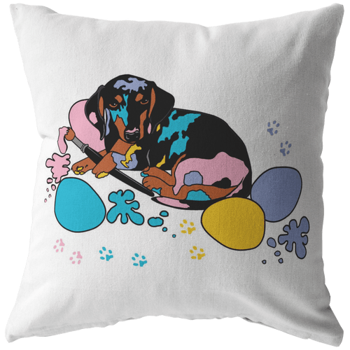 Easter Splash Throw Pillow