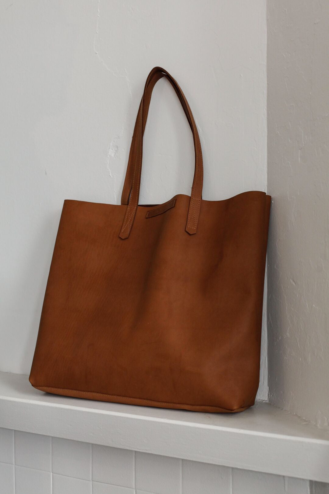 Large Leather Tote | Tobacco