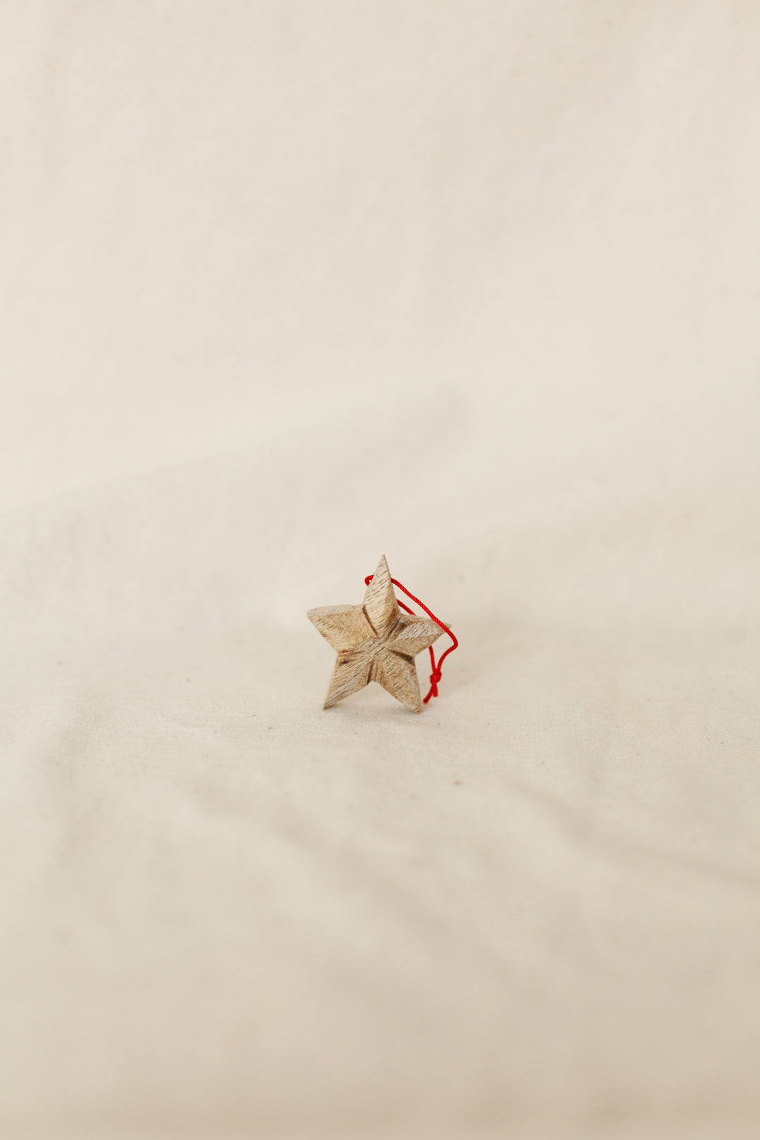 Wooden Star Christmas Ornament
